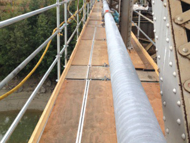 Steelcoat 300 used on pipebridge.