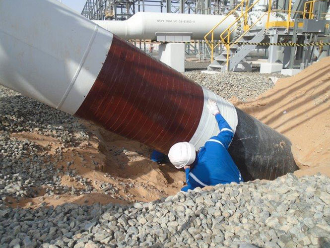 Premier Soil Air Interface System applied to pipe