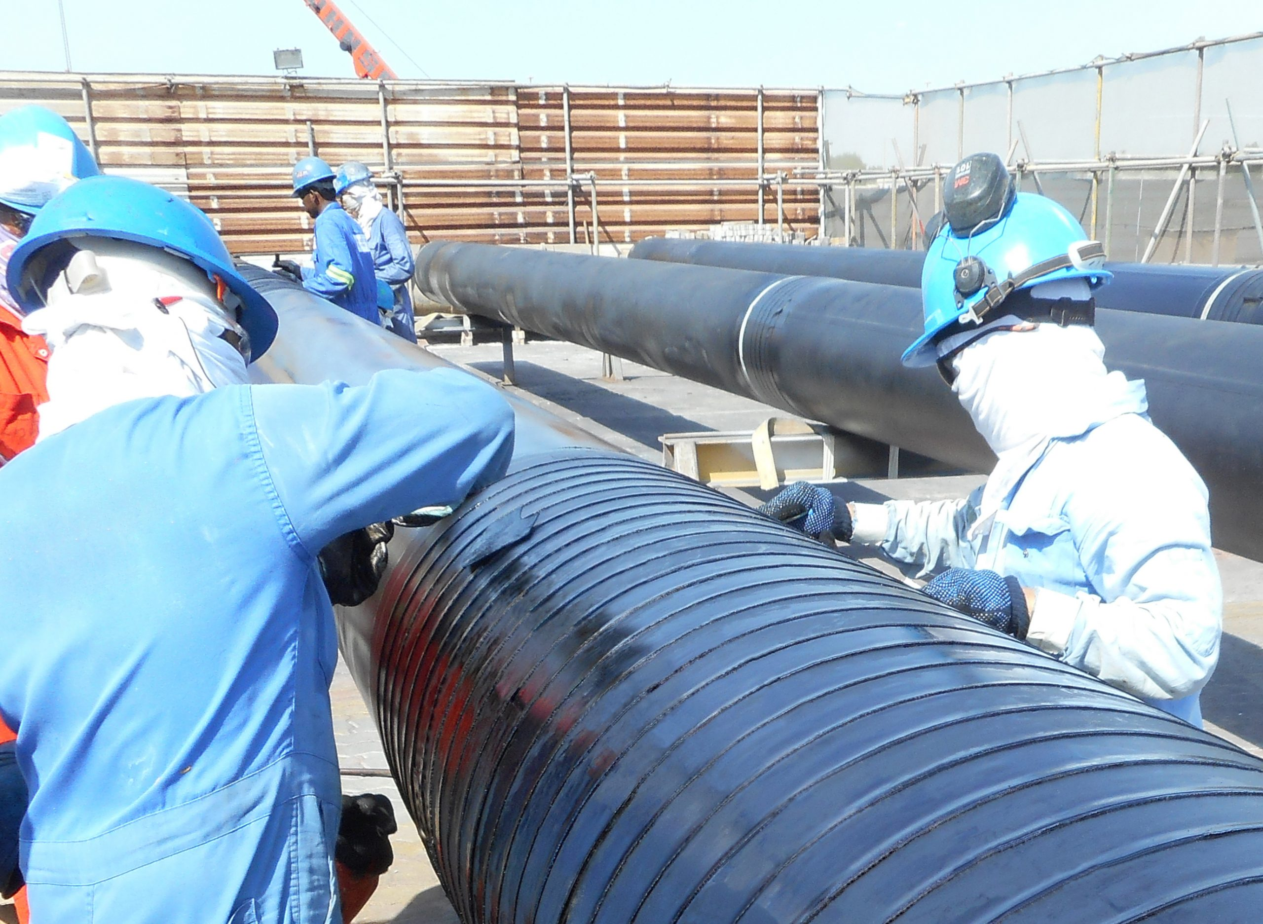 Premcote-R Tape applied to pipeline