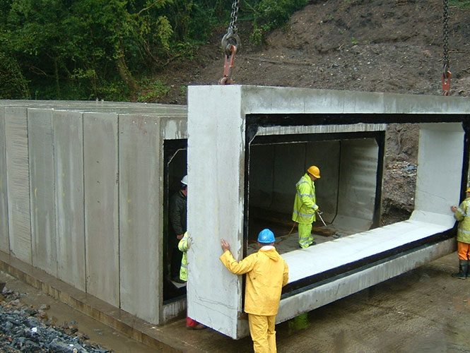 Premstrip is used to joint various types of precast concrete units
