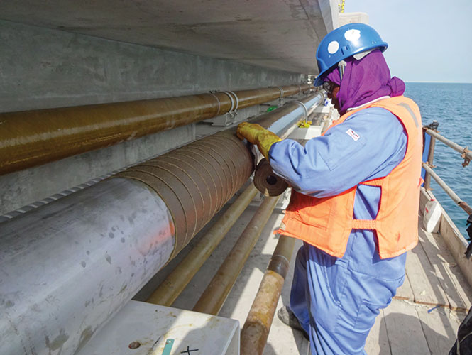 Premtape Tropical applied to a pipeline