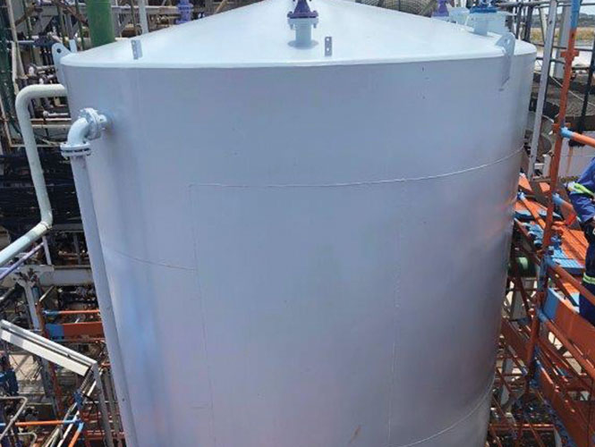 Steelcoat 700 coating applied to a steel tank