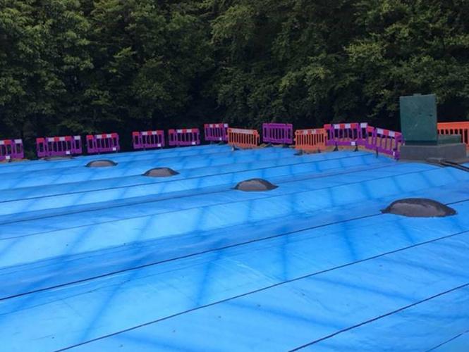 Premseal 100 waterproofing membrane on reservoir roof